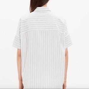 Madewell Tops - Madewell courier stripe oversized boyfriend shirt
